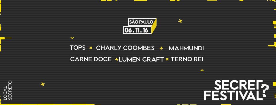 Secret Festival 2016 acontece em São Paulo no dia 6 de novembro